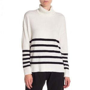 Vince Camuto Striped Turtleneck Sweater